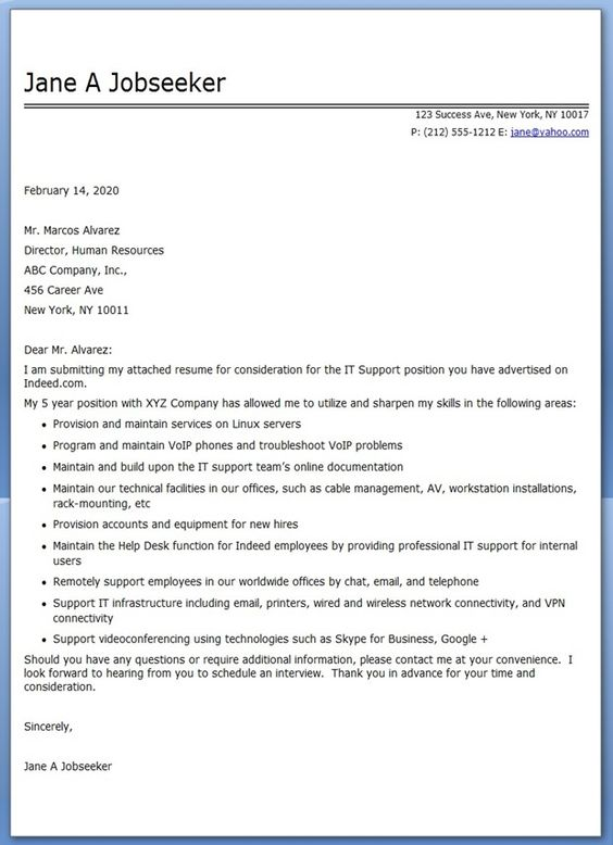 IT Professional Cover Letter PDF Job Seeking Pinterest   It Professional  Cover Letter  Cover Letter It Professional