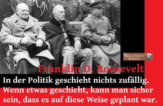 Franklin D. Roosevelt - Nichts geschieht zufällig in der Politik