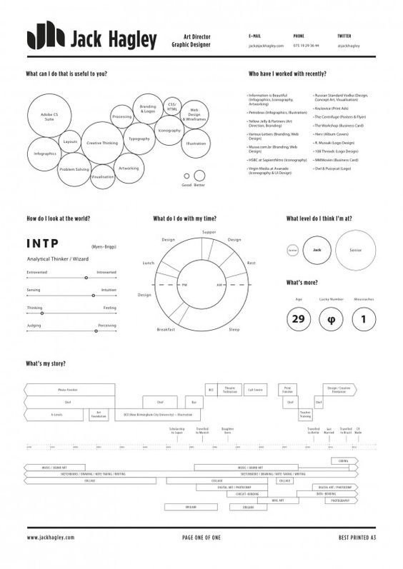 Examples of Creative Graphic Design Resumes Infographics 2012 - physical therapist resumes