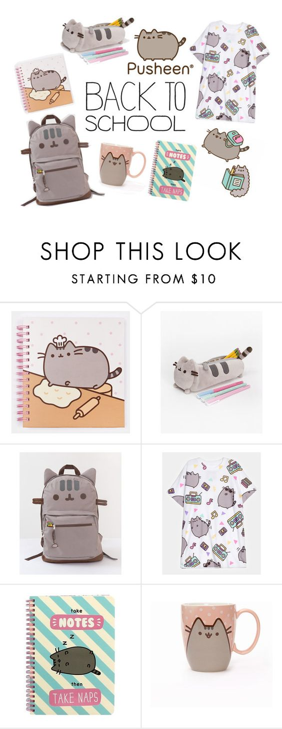 """""""#PVxPusheen"""" by clixa ❤ liked on Polyvore featuring Pusheen, contestentry and PVxPusheen"""
