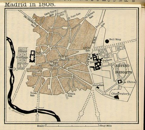 Calles De Madrid En 1808 Mapa Madrid Calles De Madrid Mapa Antiguo