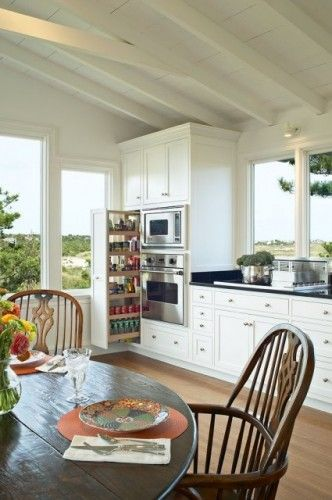 (Classic Beach House traditional kitchen)