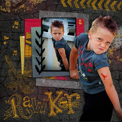 """""""Rawker"""" by christineirion, as seen in the Club CK Idea Galleries. #scrapbook #scrapbooking #creatingkeepsakes"""