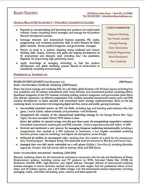 executive resume resume examples and resume on pinterest