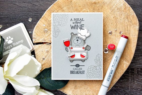 Simon Says Stamp | A Meal Without Wine...