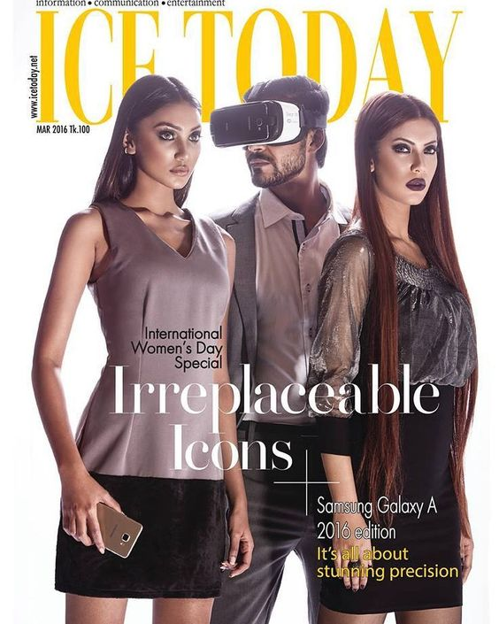 An awesome Virtual Reality pic! #darazbd secures the #cover of the #internationalwomensday special issue of @ice_today featuring #Samsung #virtualreality gear launch #wardrobe partner @vittate @ecstasy_fashionguide @doors #pledgeforparity by darazbangladesh check us out: http://bit.ly/1KyLetq