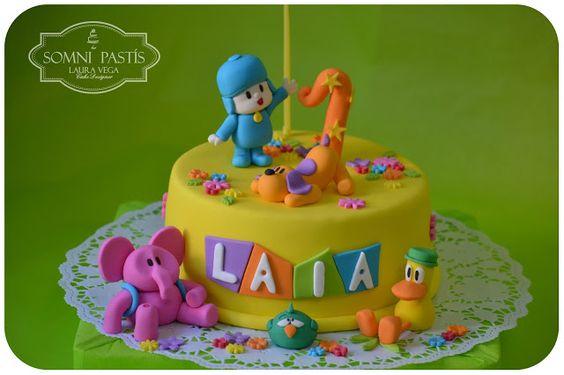 Somni Pastís: Pastel Pocoyo para Laia - ( Pocoyo Cake)