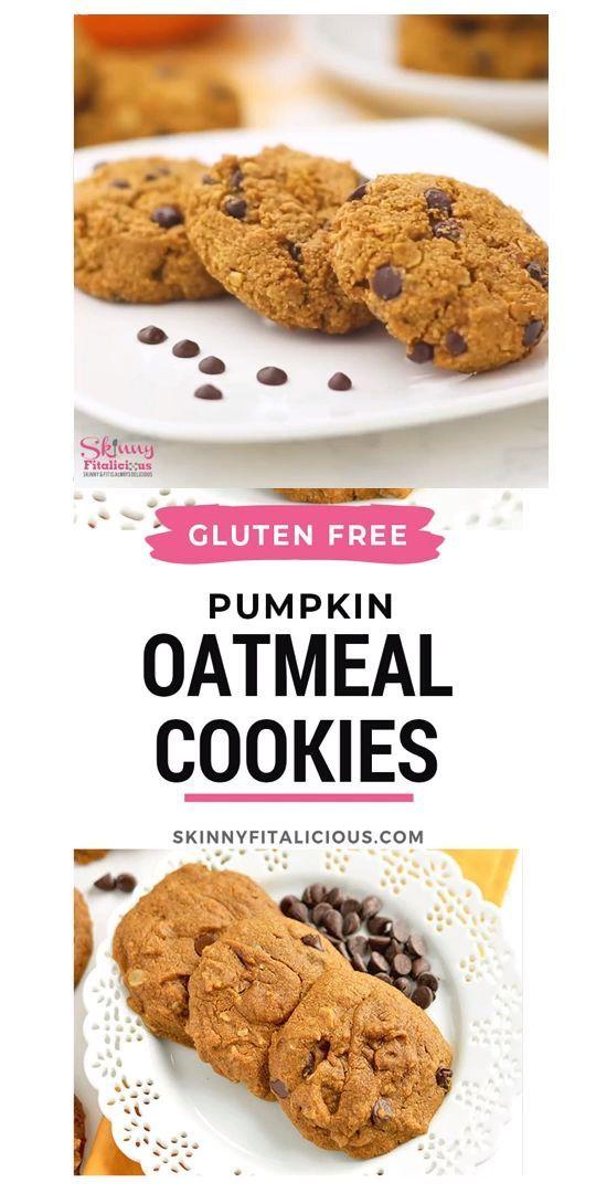 These Gluten Free Pumpkin Oatmeal Cookies Are Kid Friendly And Easy To Make Pumpkin Oatmeal Cookies Vegan Pumpkin Chocolate Chip Cookies Healthy Cookie Recipes