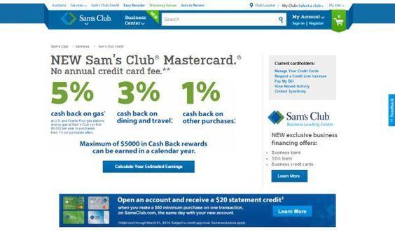 sams club account