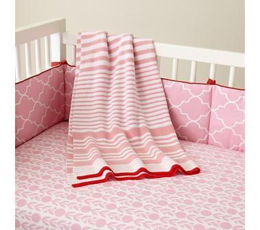 Baby Crib Bedding: Baby Pink Floral Print Crib Bedding