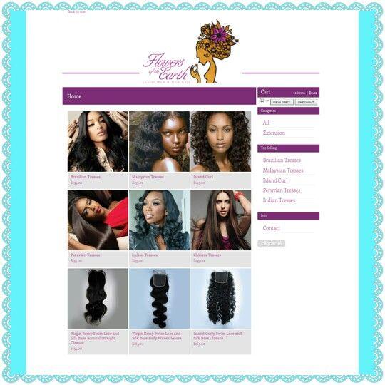 Shop luxury hair www.flowersoftheearth.bigcartel.com