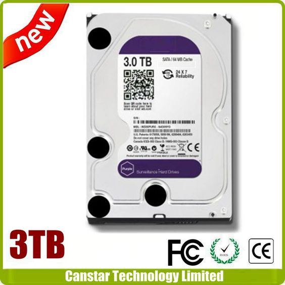 3.5 inch Internal Purple Hard Drive Disk 3TB HDD