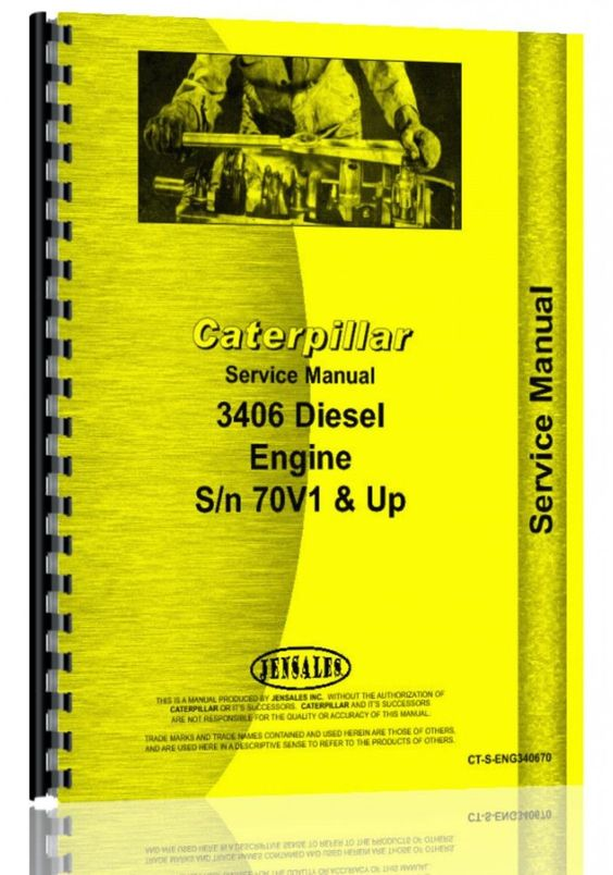 Caterpillar 3406 Engine Service Manual