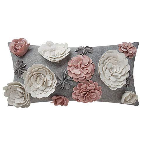 king rose 3d flower throw pillow cover