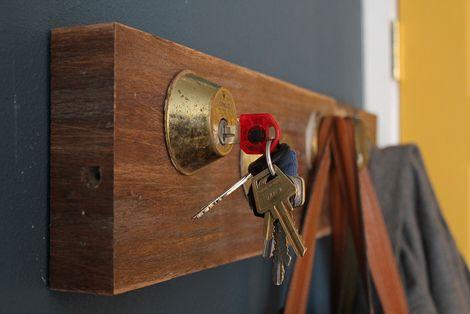 DIY: 10 leuke kapstokken: Doorknob, Door Knobs, Key Holders, Diy Craft