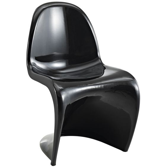 """""""S"""" Style Black Chair 