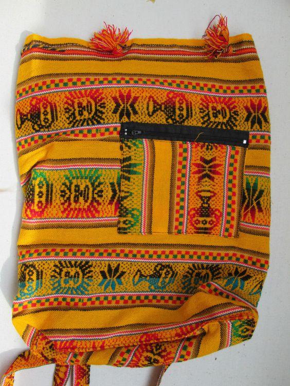 1 kleiner Rucksack aus Peru  leicht Hippie Goa  Nr.1