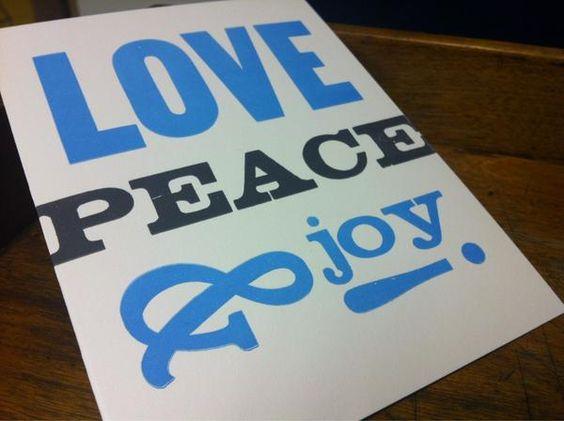 Love peace and joy via @joeborges