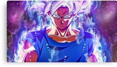 Ultra Instinct Goku Mastered Canvas Print By D34thdesing Pantalla De Goku Fondo De Pantalla De Anime Personajes De Dragon Ball