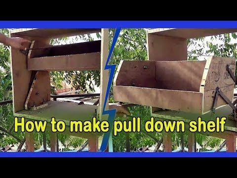 How To Make Pull Down Shelf Demonstrated Own It Youtube Pull Down Shelf Shelves Bespoke Kitchen Cabinets