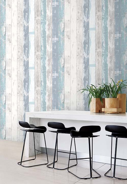 Blue And White Wooden Design Wallpaper House Design Wall Coverings Wallpaper Suppliers