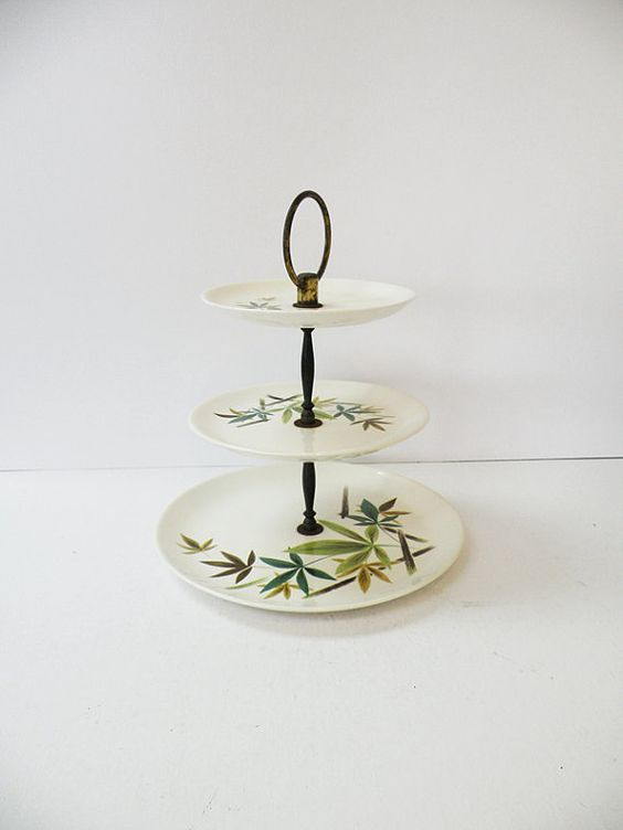 Authentic Vintage Three Tier Cake Stand // Asian by heartkeyologie, $32.00