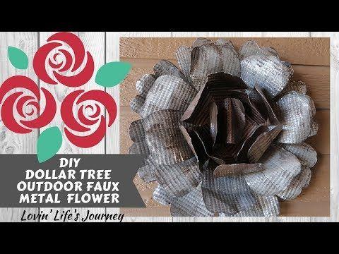 Dollar Tree Diy Outdoor Faux Metal Flower Metal Rose Garden
