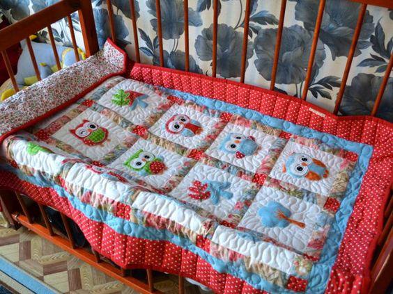 Совметный пошив.Детское одеяло Совушки. Стежка. - Ярмарка Мастеров - ручная работа, handmade