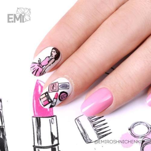 كيفية الرسم على الاظافر طلاء اظافر مناكير تجميل Diy Nail Designs Nail Art Pictures Gel Nail Art Designs