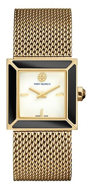 gold mesh Tory Burch watch