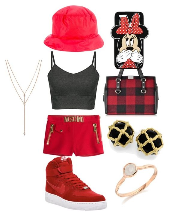 """""""Untitled #5"""" by beckyrock on Polyvore featuring Dsquared2, Prada Sport, Moschino, Forever 21, NIKE, Vince Camuto and Monica Vinader"""