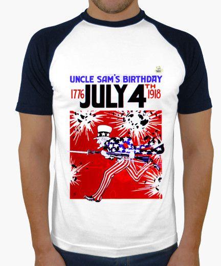 Camiseta Uncle Sam B Camiseta hombre, estilo béisbol  19,90 € - ¡Envío gratis a partir de 3 artículos!