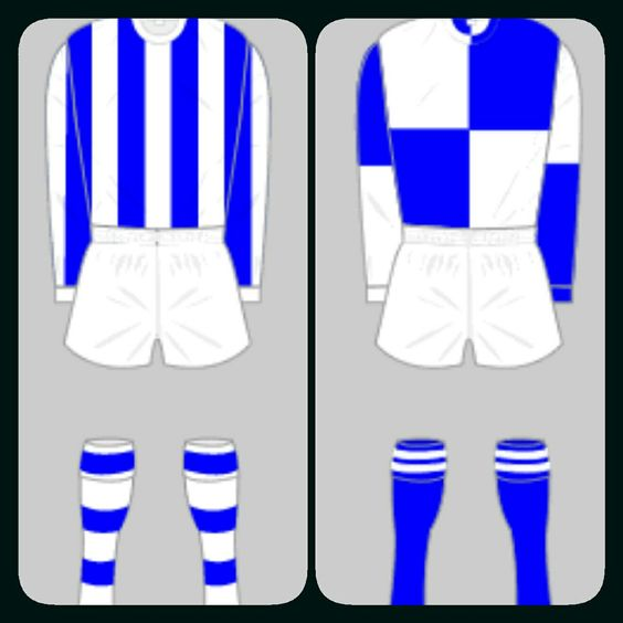 Bristol Rovers home kits for 1964-65 and 1973-77.
