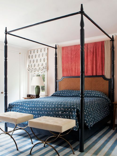 California eclectic gets a traditional twist twists for High end canopy beds