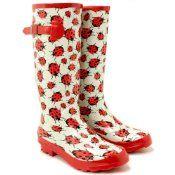 Women's Lady Bug Rain Boots | Ladybugs | Pinterest | Rain boots ...