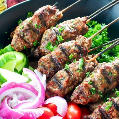 Ground Beef Kebabs Grill Or Oven Recipe Kebabs On The Grill Beef Kebabs Kebab Recipes