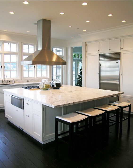 ... . Great White Marble kitchen Countertop. #Marble #Kitchen #Countertop