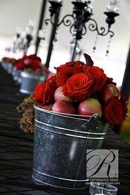 Cute and fun fall farm wedding setting inspiration. Wedding Decor Rachel A. Clingen Wedding & Event Design