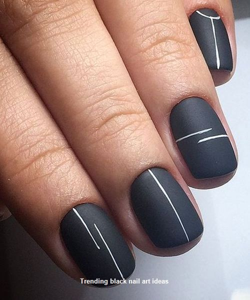 20 Simple Black Nail Art Design Ideas Blacknails Easy Nail Art Black Nail Art Nail Art
