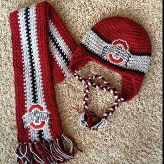 Ohio Hat & Scarf #2