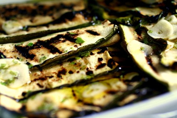 Marinated zucchini and co.