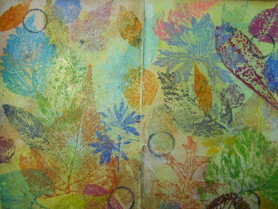 More Leaves...paint prints