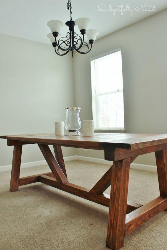 Diy farmhouse table Farmhouse table and Farmhouse on Pinterest