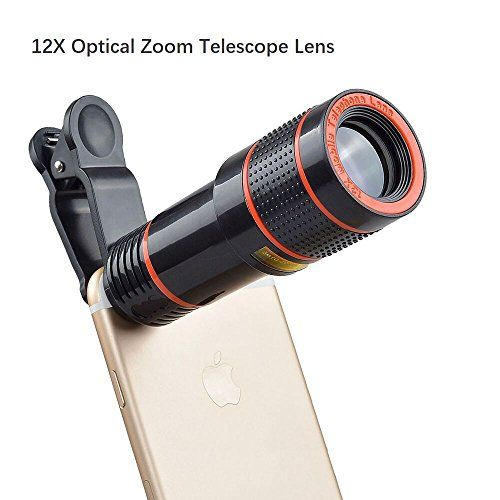 Cell Phone Camera Lens 12x Zoom Telephoto Universal Clip On Lens