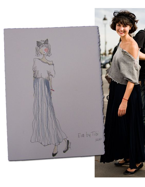 Eva Fontanelli, drawing by Amy Smilovic
