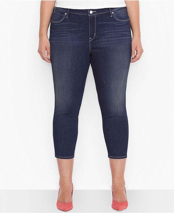 Plus Size Cropped Jeans #plus #size #denim   valentine   Pinterest ...