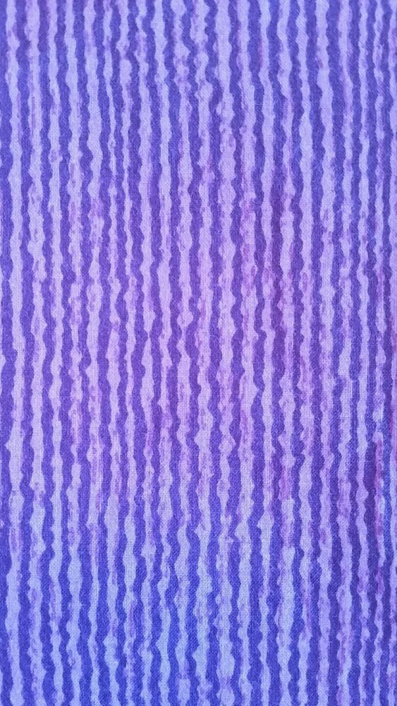 Purple Wavy Striped Spooky Halloween Cotton Craft Quilt Fabric 2 Yards #Unbranded