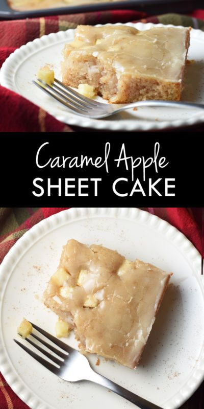 This Caramel Apple Sheet Cake is moist and buttery, with cinnamon and apples…