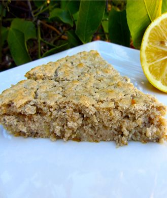 Lemon Chia Seed Cake  Infused with a tangy lemony essence, this light and fluffy cake makes the perfect dessert or afternoon snack! Better yet, the gluten-free, vegan confection clocks in at a mere 60 calories (with stevia) or 90 calories (with agave) per slice.