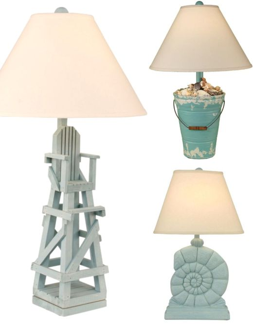 Classic Coastal Theme Table Lamps Coastal Lamp Beach Lamps Lamp